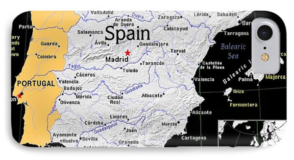 Spain Exotic Map IPhone Case