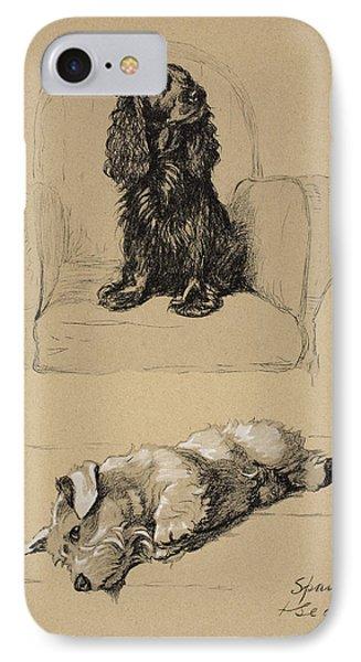 Spaniel And Sealyham, 1930 IPhone Case
