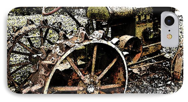 Speckled Antique Tractor IPhone Case