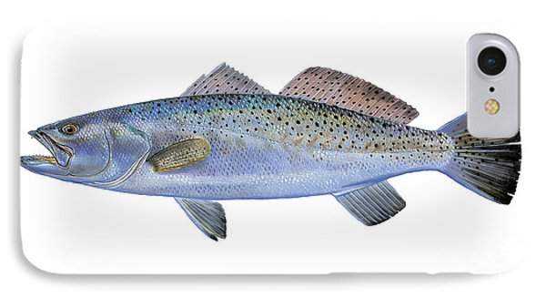 Drum iPhone 8 Case - Speckled Trout by Carey Chen