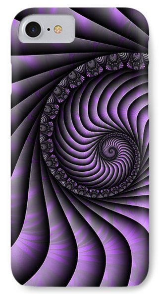 Spiral Purple And Grey IPhone Case