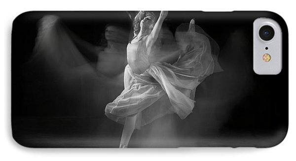 Spirit Dance In Black And White IPhone Case