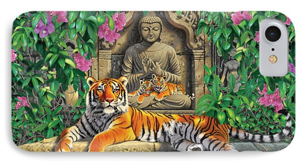 Spiritual Hideaway - Tigers Variant 2 IPhone Case