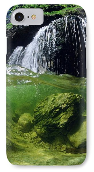 Split-picture From A Waterfall IPhone Case