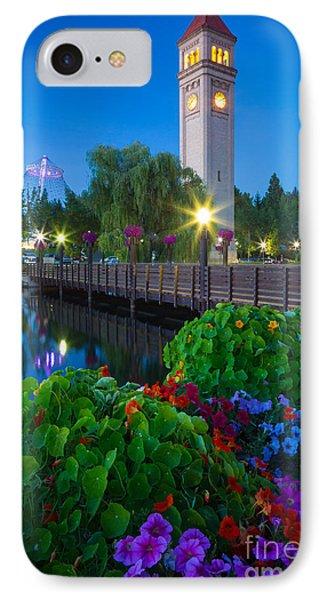 Spokane Clocktower By Night IPhone Case