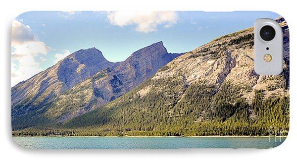 Spray Lake Mountains IPhone Case
