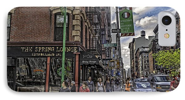 Spring And Mulberry - Street Scene - Nyc IPhone Case