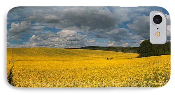 Spring At Oilseed Rape Field IPhone Case