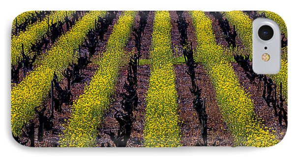Mustard iPhone 8 Case - Spring Vinyards by Garry Gay