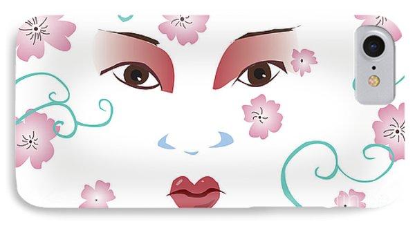 Springtime Geisha IPhone Case