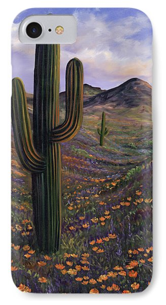 Springtime Saguaro In Arizona IPhone Case