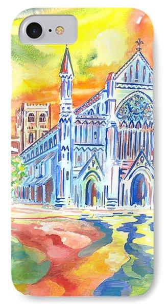 St Albans Abbey - Rainbow Celebration IPhone Case