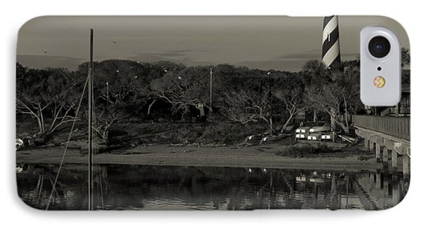 St. Augustine Lighthouse Beach Early Morning Monochrome IPhone Case