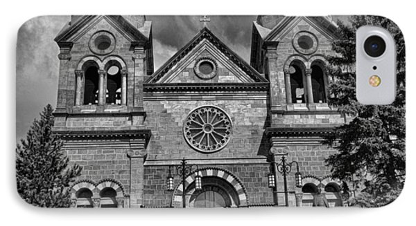 St. Francis Cathedral Basilica Study 5 Bw IPhone Case