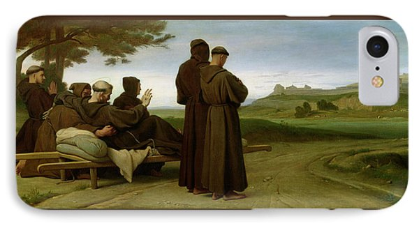 Saint Francis Of Assisi, While Being Carried To His Final Resting Place At Saint-marie-des-anges IPhone Case