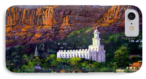 St. George Temple Red Hills IPhone Case