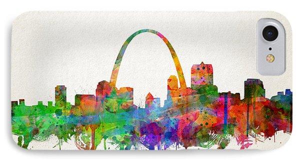 St Louis Skyline Watercolor 2 IPhone Case