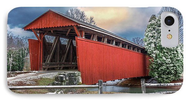 Staats Mill Covered Bridge IPhone Case