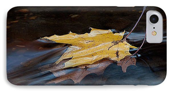 Stacked Autumn Leaves On Water IPhone Case