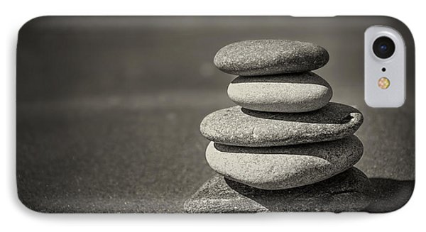 Stacked Pebbles On Beach IPhone Case