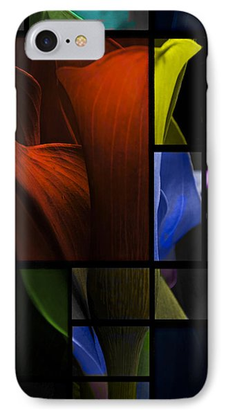 Stained Glass Calla Lily IPhone Case