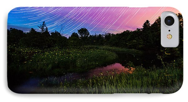 Star Lines And Fireflies IPhone Case