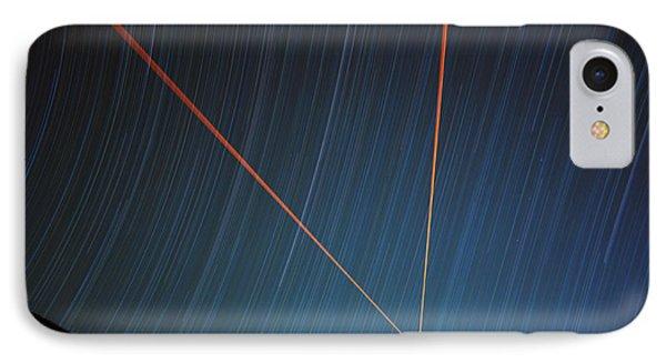 Star Trails Over Mauna Kea Observatory IPhone Case