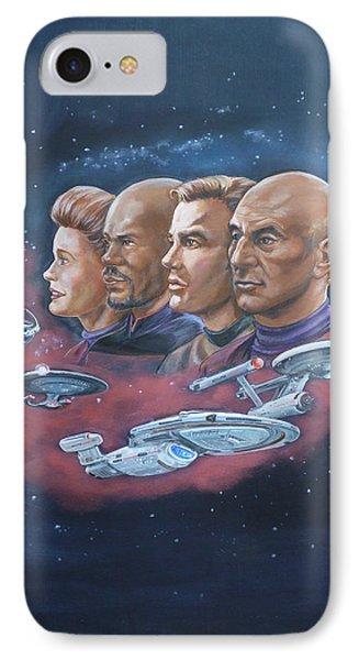 Star Trek Tribute Captains IPhone Case