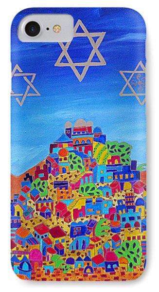 Stars Above Jerusalem IPhone Case