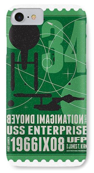 Starschips 34-poststamp - Uss Enterprise IPhone Case