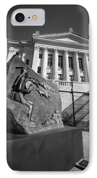 Statue Near The Capital IPhone Case
