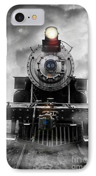 Train iPhone 8 Case - Steam Train Dream by Edward Fielding