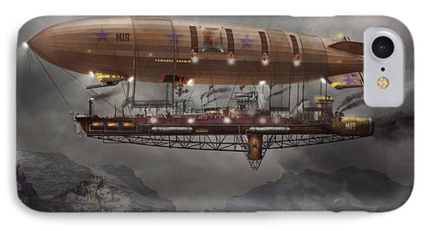 Steampunk - Blimp - Airship Maximus  IPhone Case