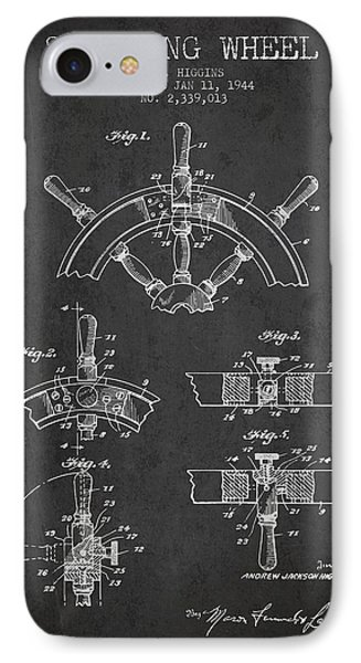 Steering Wheel Patent Drawing From 1944  - Dark IPhone Case