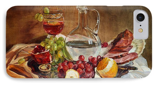 Still Life With Meat And Wine IPhone Case