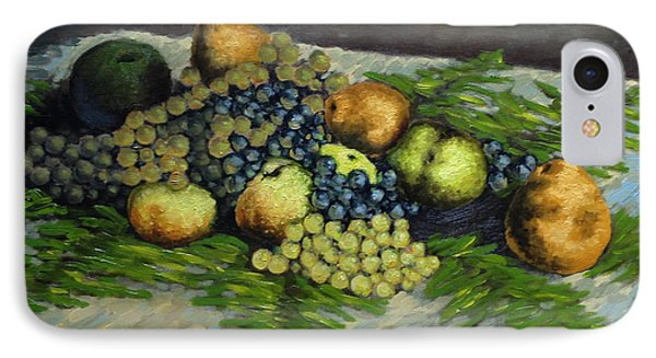 Still Life With Pears And Grapes IPhone Case