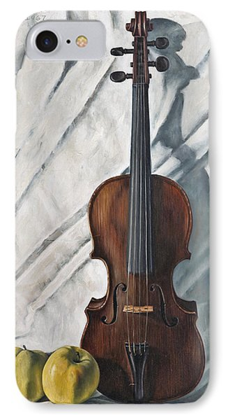 Violin iPhone 8 Case - Still Life With Violin by John Lautermilch