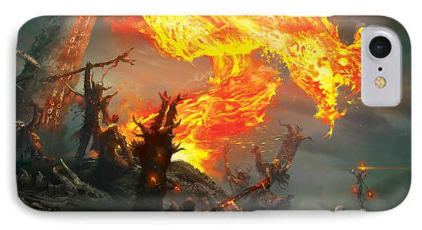 Wizard iPhone 8 Case - Stoke The Flames by Ryan Barger