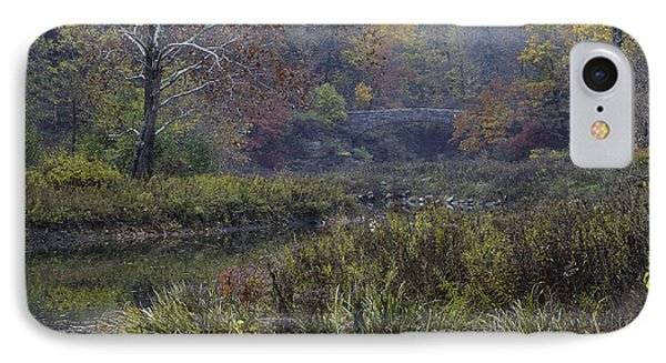 Stone Bridge In Autumn I IPhone Case