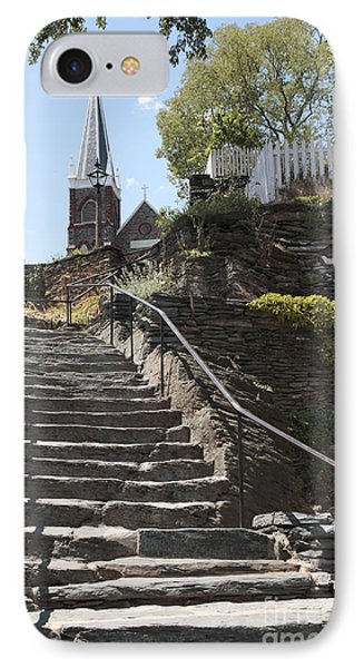 Stone Steps And Saint Peters Church At Harpers Ferry IPhone Case