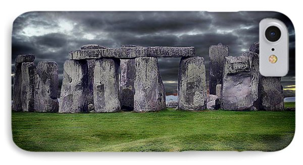 Storm Clouds Over Stonehenge IPhone Case