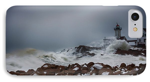 Storm Off Eastern Point Lighthouse IPhone Case