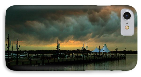 Storm Over National Harbor Oil IPhone Case