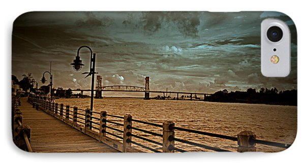 Stormy Wilmington Riverwalk  IPhone Case