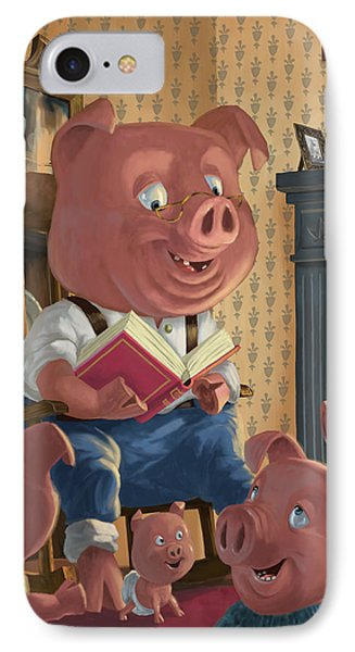 Story Telling Pig With Family IPhone Case