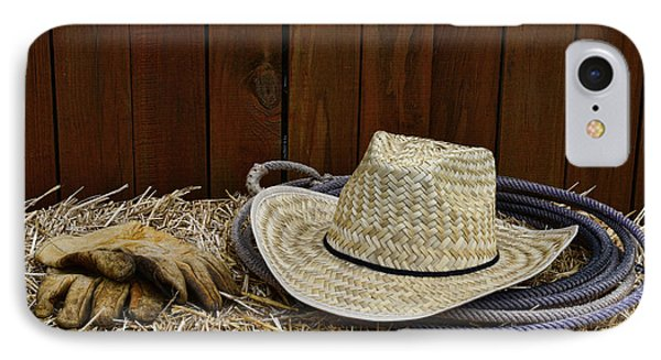 Straw Hat  On  Hay IPhone Case