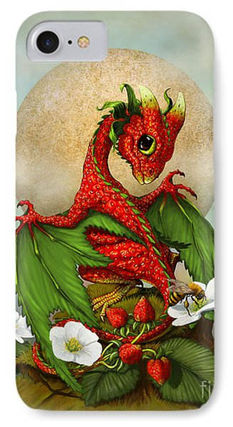 Dragon iPhone 8 Case - Strawberry Dragon by Stanley Morrison