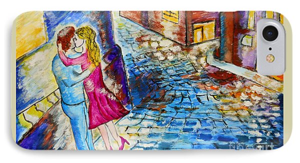 Street Kiss By Night  IPhone Case