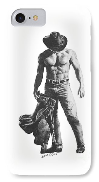 Strength Of A Cowboy IPhone Case