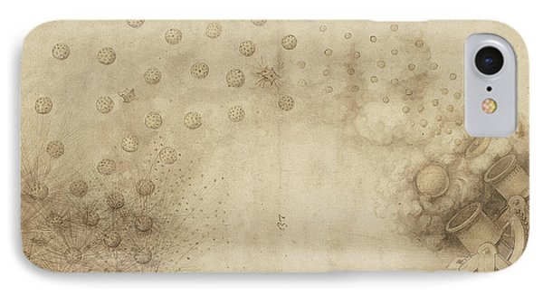 Study Of Two Mortars For Throwing Explosive Bombs From Atlantic Codex IPhone Case